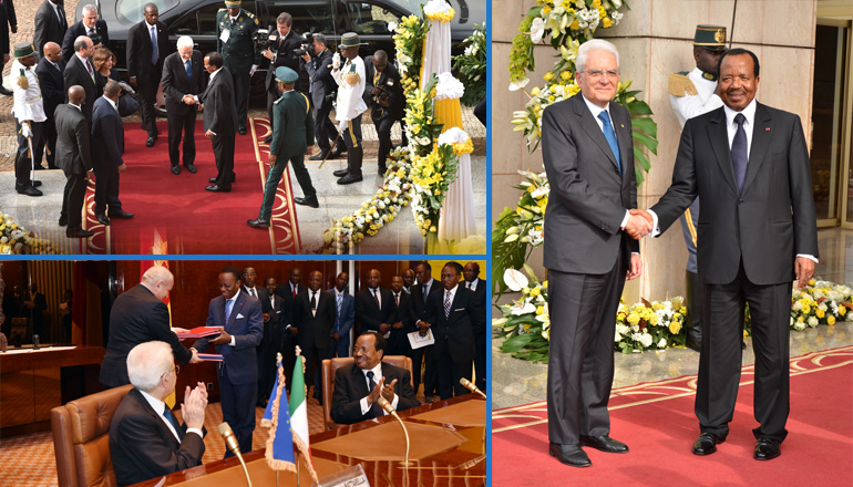 Italian President gets impressive welcome to Cameroon