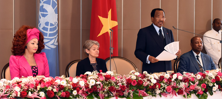 Toast by H.E. Paul BIYA at the luncheon offered in honour of Madam Irina BOKOVA