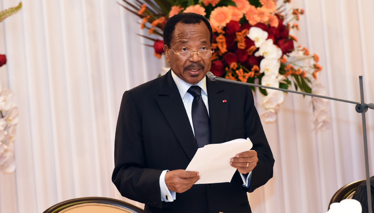 Toast by H.E. Paul BIYA, President of the Republic of Cameroon during the State Dinner offered in honour of H.E. Muhammadu BUHARI, President of the Federal Republic of Nigeria