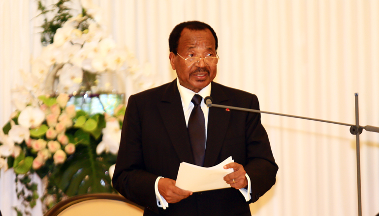 Toast by H.E. Paul BIYA, President of the Republic of Cameroon on the occasion of the State Dinner offered in honour of H.E. François HOLLANDE, President of the French Republic
