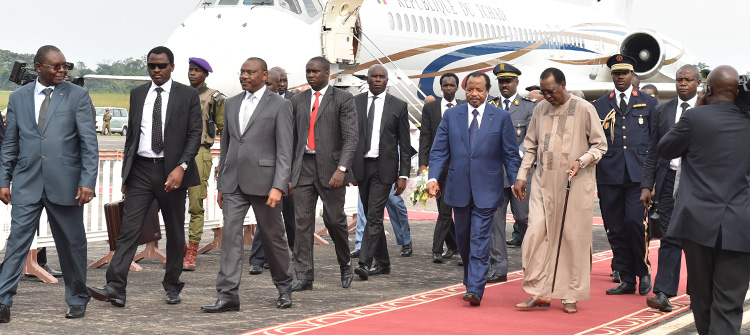 Chadian President Idris DEBY ITNO arrives Cameroon for a 2 day visit