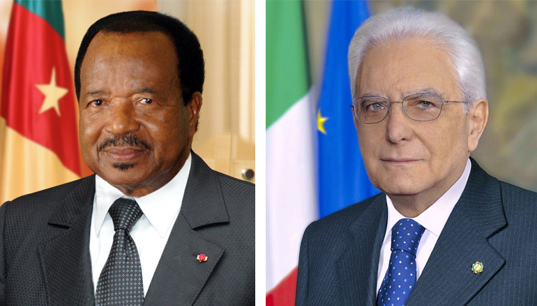 Italian President on state visit to Cameroon