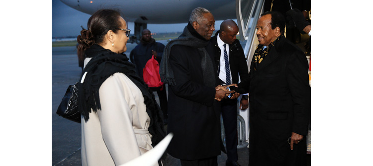 One Planet Summit: President Paul BIYA arrives in Paris