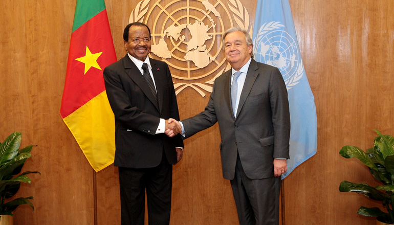President Paul BIYA and Antonio Guterres Hold First Meeting at UN Headquarters