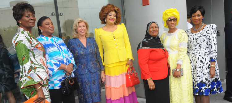 Chantal BIYA attends luncheon offered by Melania TRUMP