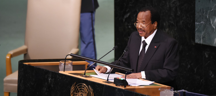 President Paul Biya advocates for Peace at UN rostrum