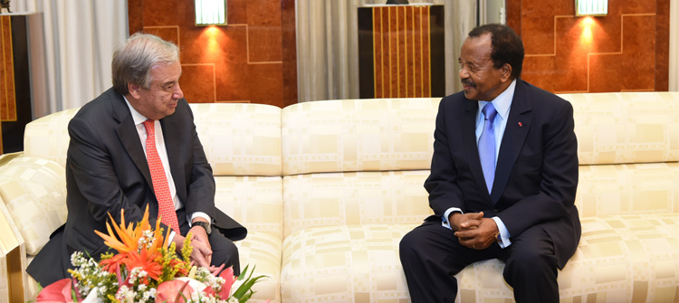 UN Secretary General Pays Courtesy Call at the Unity Palace