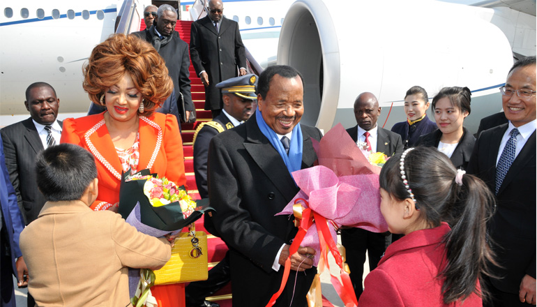 Cameroon's Presidential Couple Arrives in China