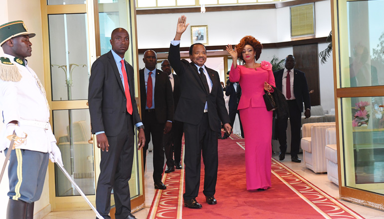 Presidential Couple Back in Yaounde after FOCAC Summit in Beijing