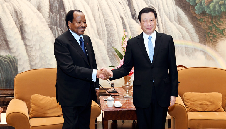 President Paul BIYA in Shanghai.